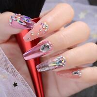 3D Nail art Strass Mix Kristall FlatBack AB Glitter Tipps Dekoration Z6Q3