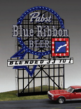 PABST BLUE RIBBON BEER ANIMATED BILLBOARD SIGN HO/N-SCALE BY MILLER ENGINEERING