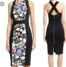 TED BAKER AKVA KENSINGTON FLORAL BODYCON DRESS  Size 4 (UK 14)