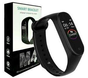 Smart Watch Pulse Oximeter SPo2 Tracker Sport Bracelet Heart Rate Monitor M4