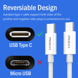 PD Fast Charger USB-C To Type C Cable for iPad Pro 11 Air 4 Galaxy S20 fe S21 5G