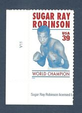 4020 Sugar Ray Robinson US Single W/Plate Number  Mint/nh (Free Shipping)