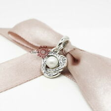 Genuine Pandora, Luminous Love Knot, Pearl, Necklace Pendant, Charm 390401WCP