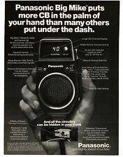 1977 PANASONIC CB Radio Model RJ 3450 BIG MIKE Hand Held VTG PRINT AD