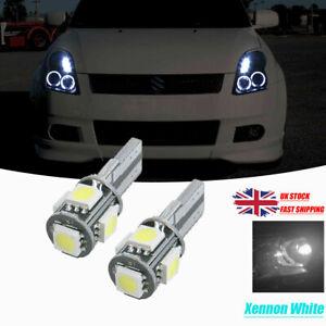 FOR SUZUKI SWIFT MK3 MK4 2xT10 5SMD LED WHITE BULBS SIDELIGHTS CANBUS FREE ERROR