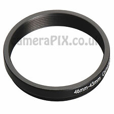 46mm to 43mm Male-Female Stepping Step Down Filter Ring Adapter 46-43 46mm-43mm