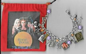HOCUS POCUS   Inspired Charm Bracelet  Altered Art Gift Bag Hand made  HALLOWEEN