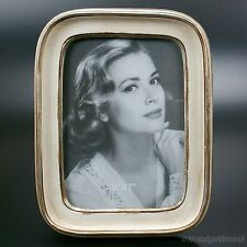 50er Jahre Bilderrahmen Nostalgie Fotorahmen Rahmen Retro Stil weiss creme NEU