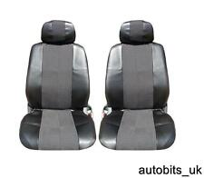 BLACK LEATHER & FABRIC SEAT COVERS FOR RENAULT CLIO MEGANE LAGUNA SCENIC MODUS