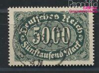 Deutsches Reich 256d geprüft gestempelt 1922 Ziffern Ergänzungs-Werte (8984278