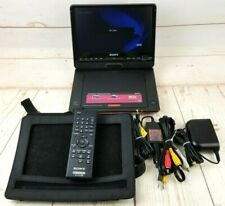 "Sony DVP-FX930 9"" Portable DVD/CD Player w/Holder, Adapters, AV Cables, Remote"
