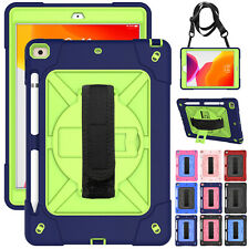 """For iPad 10.2"""" 8th Gen 2020 7th 2019/9.7 6th/Air2 Case Strap Cover+Pencil Holder"""