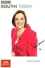 Sarah Farmer Signed BBC News South Today Broadcaster Photo / Postcard AFTAL COA
