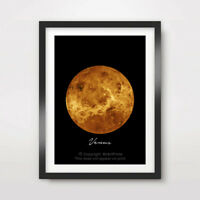 PLANET VENUS Art Print Poster Home Decor A4 A3 A2 Nasa Outer Space Wall Picture