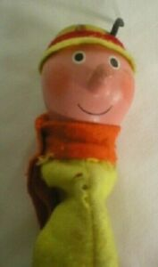 RARE VINTAGE PELHAM HAND PUPPET 'BRIAN THE SNAIL'  FROM MAGIC ROUNDABOUT