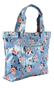 Cath Kidston Large Carry All Grove Bunch Bag Grey Blue Colour