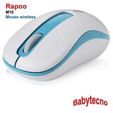 Rapoo MOUSE OTTICO WIRELESS M10 COMPATTO PC NOTEBOOK 1000 DPI NETBOOK Rotella 3