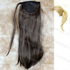Wiwigs Medium Brown 1 Piece Straight Clip in Ladies Ponytail Wrap Hair Extension