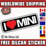I LOVE MY MINI sticker austin cooper clubman van  180mm wide car sticker