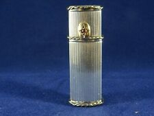 High Quality Solid Silver French Hallmarked Lipstick Holder, Gold Slider, c1920