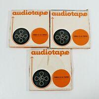Audiotape Reel to Reel LOT of 3 Reels Pre-Recorded