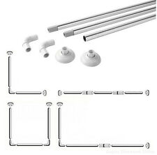 Shower Curtain Rail Rod Chrome - 4 Configurations | L-Shape / U-Shape / Straight