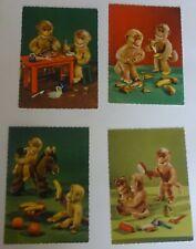 4 postcards DDR. A monkey