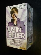 JUSTIN BIEBER BOX - Panini - 9 Sealed Packs of cards  Look for Rare & Foil Cards