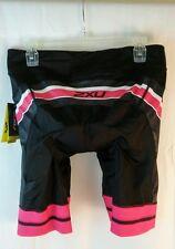 Nwt 2Xu Women/Junior Perform Pro Cycle Cyclibg Black Shorts Sz Xl