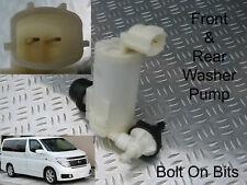 Front & Rear Windscreen Washer Pump Fits Nissan Elgrand Import E51 2002 to 2010