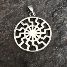 Schwarze Sonne Schmuck Amulett aus 925er Sterling Silber