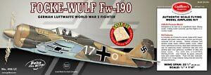 Guillow's WWII German Focke-Wulf FW 190 Balsa Wood Flying Model Kit  GUI-406