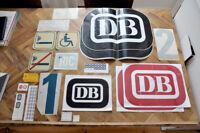 Original Zugaufkleber DB Altes Design Aufkleber Deutsche Bundesbahn - Bahn Zug