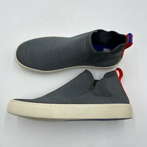 Rothys Chelsea Boots Women's Size 7.5 Gray Knit Rubber Sole Pull On Sneakers