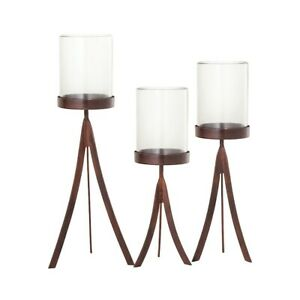 ELK Lifestyle Studio Hurricanes (Set of 3), Montana Rustic/Clear - 545146