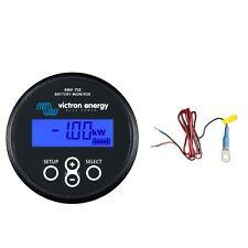 Victron BMV-702 Battery Monitor (Black Bezel) Bundle with Meter & Temperature...