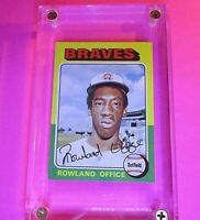 1975 Topps #262 Rowland Office RC Rookie Braves High Grade! NmMt Centred & sharp