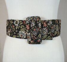 Vintage 70's Boho Hippie Flower Saks Fifth Avenue Cinch Waist Belt Size Small