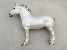 Breyer Peter Stone Horse Holiday Standing Drafter Pearl White #6230 Christmas