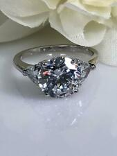 Estate 2.00 Ct Round Cut Diamond 14k White Gold Over Solitaire Engagement Ring