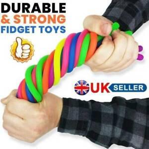 12 Stretchy Noodle String Neon Childrens Kids Toy Relief Stress Sensory Fidget