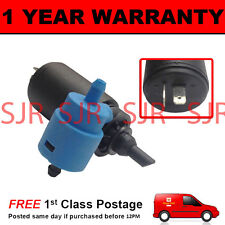 FOR VAUXHALL OPEL ASTRA F 1991-98 FRONT & REAR TWIN OUTLET WINDOW WASHER PUMP