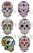 Sugar Skull Vinyl Stickers, Laptop, Car ,Truk ,JDM Drift Van, Bike, Skate board