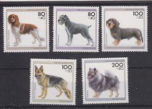 WEST GERMANY MNH STAMP DEUTSCHE BUNDESPOST 1995 YOUTH WELFARE DOGS SG 2640-2644