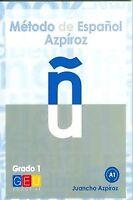 Método de español Azpíroz, grado 1. NUEVO. Nacional URGENTE/Internac. económico.