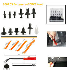 700xCar Door Bumper Panel Fender Retainer Push Rivet Fastener Clips Part+30xTool