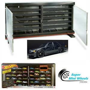 Hot Wheels Display Case 2021 Hold 50 Cars with one Exclusive Mercedes-Benz 190E