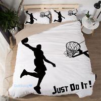 Basketball Shooting Single/Double/Queen/King Bed Quilt/Doona/Duvet Cover Set