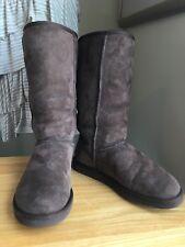 Ugg Dark Brown Tall Boots Ladies Size 8