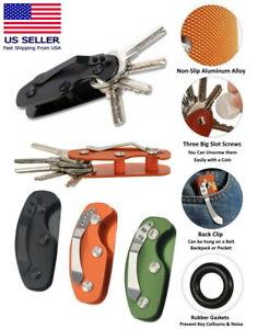 Key Organizer Holder Folder Clamp Pocket Keychain Quickdraw Belt Clip On EDC